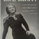Vintage 1945 Rose Dirman Sophrano Opera Promo AD