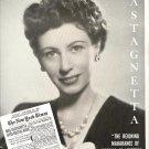 Vintage 1945 Grace Castagnetta Opera Promo AD