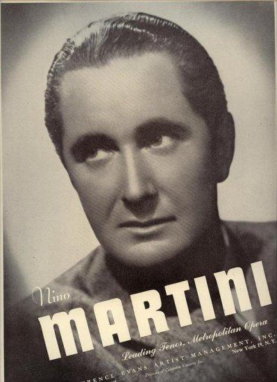 Vintage 1945 Nino Martini  Opera Music  Promo AD