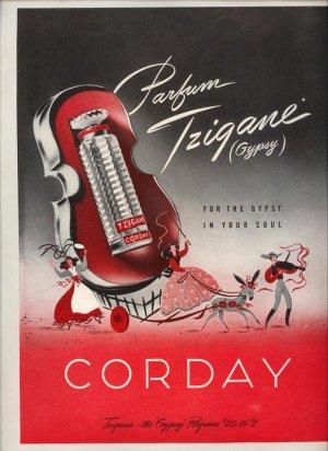 Vintage 1945 Corday Tzigane Gypsy Parfum Perfume  AD