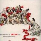Vintage 1952 Dalmation Puppies Dog Texaco Gas AD