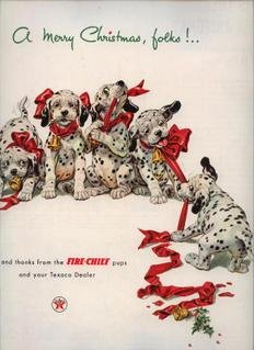 Vintage 1952 Dalmation Puppies Dog Texaco Gas AD
