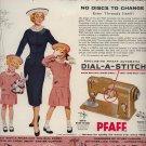 Vintage 1955 Pfaff Dial a Stitch Sewing Machine AD