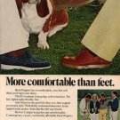 Vintage 1978 Hush Puppies Shoe Bassett Hound Dog Print AD