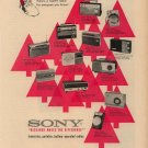 Vintage 1960 Sony Radios Different models Christmas AD