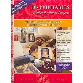 "Electric Quilt EQ Printables Premium Cotton Lawn Inkjet Fabric Sheets ~ 8 1/2"" x 11"" ~ Easy to Use!"