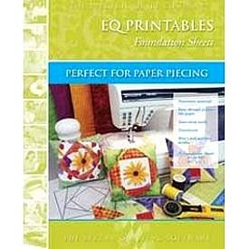 Electric Quilt EQ Printables Foundation Sheets~8 1/2 x11~Easy Tear-Away~Perfect for Paper Piecing