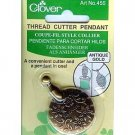 Clover Thread Cutter Pendant ~ Vintage Style ~ Antique Gold Style Finish. Cut thread risk-free! New