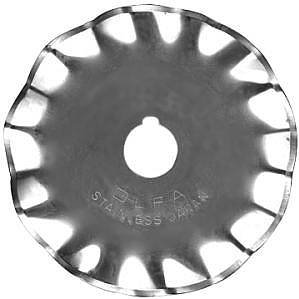 OLFA Rotary Stainless Steel Wave Blade WAB45-1 ~ Great for Crafts/Scrapbooking! Cut Paper & Fabric!