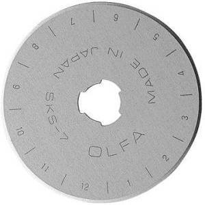 OLFA RB45-5, 45mm Replacement Blades for OLFA Rotary Cutters RTY-2/G, RTY-2/DX & RTY-2NS ~ 5 pack