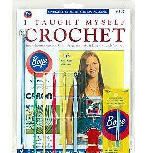 Boye ~ I Taught Myself (to) Crochet ~ Beginner's Kit 6397~Instructions, Patterns & Crocheting Tools