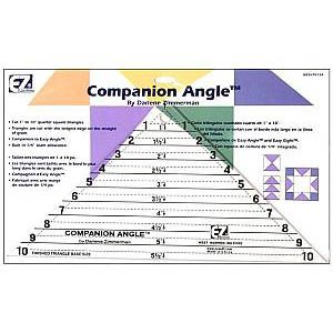 Wrights / EZ Acrylic Template ~ Companion Angle ~ 10 inch ~ Cut Triangles and Trapezoids!