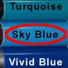 """Glossy Sky Blue, Adhesive Backed Vinyl Roll ~ 12"""" x 10' ~ Sign Vinyl for Cricut + others"""