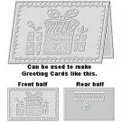 "Make a Wish 8.5"" x 11"" Letter size Embossing Folder by Craftwell ~ use with eBosser and others"