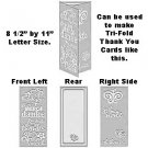 "World of Thanks 8.5"" x 11"" Letter size Embossing Folder by Craftwell ~ use with eBosser + others"