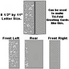 """Magic Celebration 8.5"""" x 11"""" Letter size Embossing Folder by Craftwell~use with eBosser + others"""