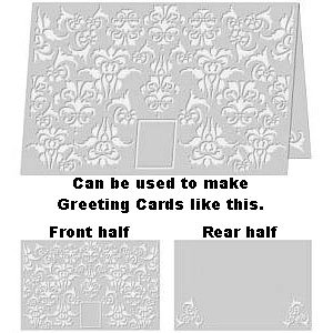 Divine Damask 8.5� x 11� Letter size Embossing Folder by Craftwell ~ eBosser, Cut'n'Boss