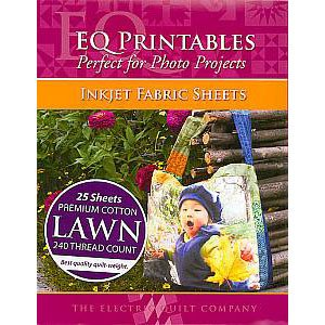 """Electric Quilt EQ Printables Premium Cotton Lawn Inkjet Fabric Sheets ~ 8 1/2"""" x 11"""" ~ 25 Sheets!"""