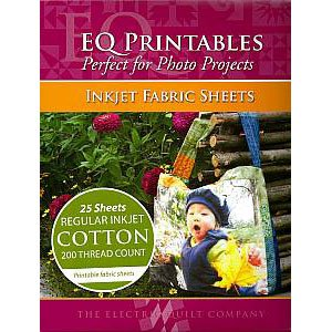 Electric Quilt EQ Printables Inkjet Fabric Sheets,8 1/2�x11�~Great for Photo Projects~25 Sheets!
