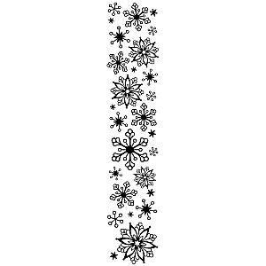 snowflake 2 1 2 inch x 12 inch border embossing folder by darice