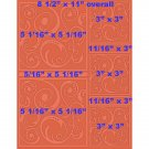 "Swirltangle 8.5"" x 11"" Letter size Embossing Folder by Craftwell ~ eBosser, Cut'n'Boss"