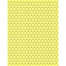 """Honeycomb, Teresa Collins Collection, Embossing Folder, 8.5"""" x 11"""" size~use w/ eBosser + others"""