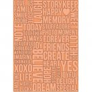Beautiful Words, Teresa Collins, Embossing Folder, for Letter +A4 size ~ eBosser, Cut'n'Boss