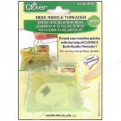 Clover Desk Needle Threader with Thread Cutter in Green. NEW! Easily & Quickly thread your needles!