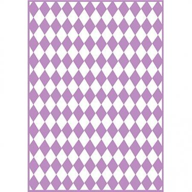 Checkered Argyle, Craftwell Embossing Folder, Universal Letter + A4 size ~ eBosser, Cut'n'Boss