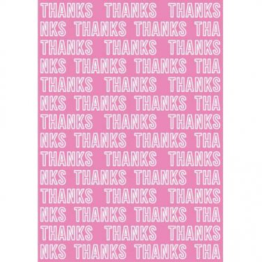Thanks, Teresa Collins Collection, Embossing Folder, for Letter +A4 size ~ eBosser, Cut 'n' Boss
