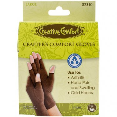 Dritz, Creative Comfort, Large Crafter's Comfort Gloves, use for Arthritis, painful + swelling hands
