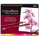 Spectrum Noir Colourblend Colored Pencils, Florals set of 24 Artist Grade Blendable Vibrant Colors