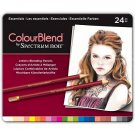 Spectrum Noir Colourblend Colored Pencils-Essentials set of 24 Artist Grade Blendable Vibrant Colors