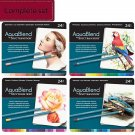 Spectrum Noir AquaBlend Watercolor Pencils, All 4 Sets, 96 Artist Quality Pencils, Free Shipping!
