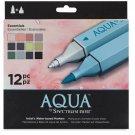 "Spectrum Aqua Water Based, Dual-Tipped, Artist Markers, ""Essentials"" 12 Marker Set, Watercoloring"