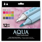 "Spectrum Aqua Water Based, Dual-Tipped, Artist Markers, ""Floral"" 12 Marker Set, Watercoloring"