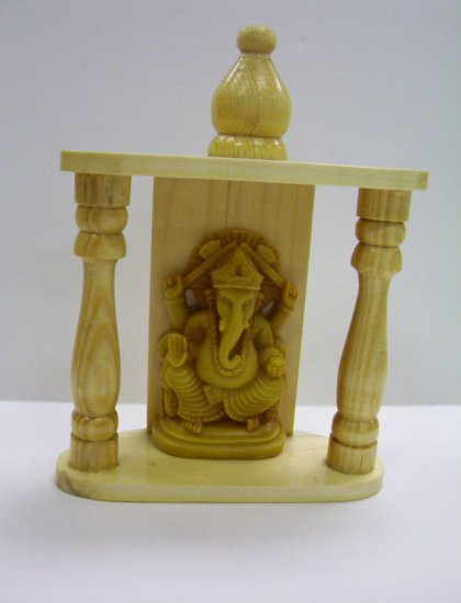 Ganesh, Ganesha in wooden temple