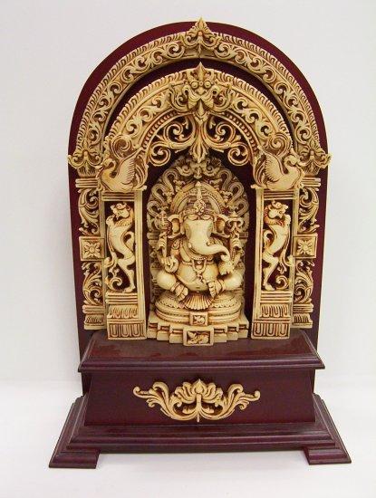 Popular Ganesh, Ganesha, on a wooden base
