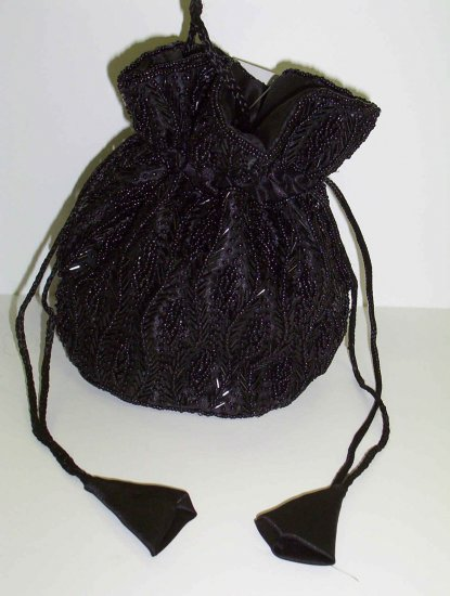Pull String bag totally black
