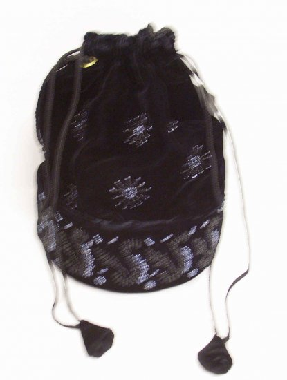 Pull String black bag