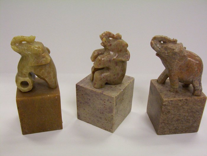 "Set of 3 Elephant 5"" Paper Weight"