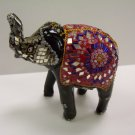"6"" Glass beaded Wooden Elephant"