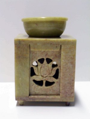 Stone Oil Burner - Lotus