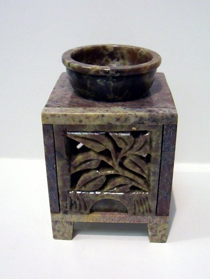 Soap Stone OIl Burner - Leaves