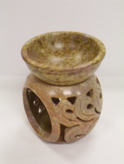 Soap Stone Oil Burner - Sphere Shaped
