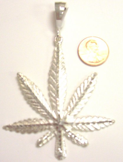 Sterling Silver Mens Leaf