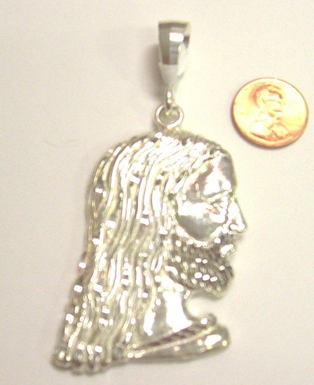 Sterling Silver Mens Jesus head