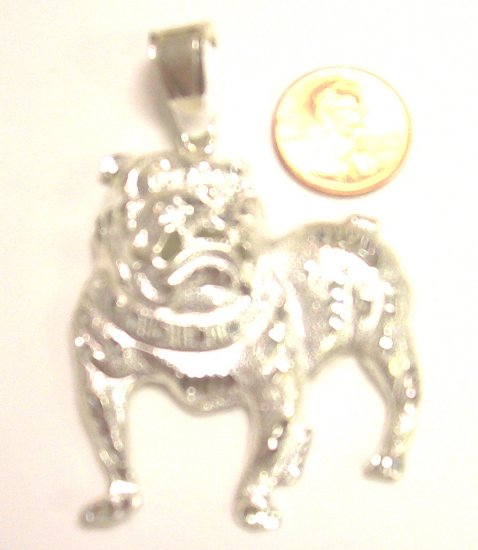 Sterling Silver Mens Bull Dog