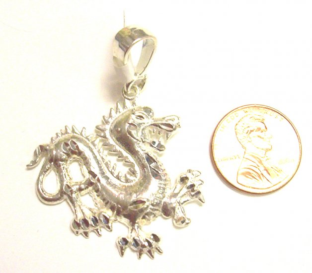 Sterling Silver Mens Dragon