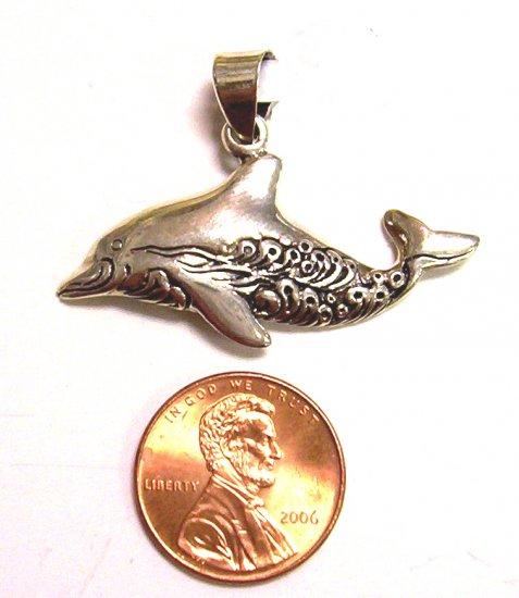 Sterling Silver Women Pendant Dolphin